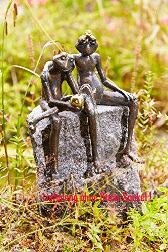 Rottenecker Gartenfigur Froschkönig Paar, Bronze, Höhe: 35 cm