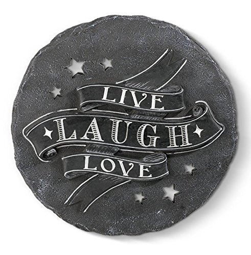 Grasslands Road Live Laugh Love Zement Trittstein (3Pack), 22,9cm/mittel, Multicolor