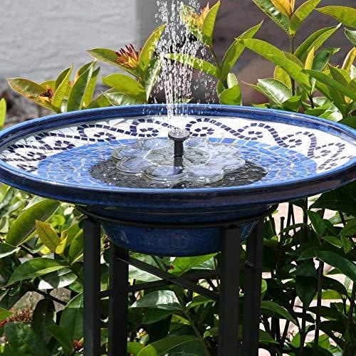 TekHome Neu Solar Springbrunnen, 1.6W Vogelbad Brunnen Garten Deko,Gartendeko Solar Fontäne,...