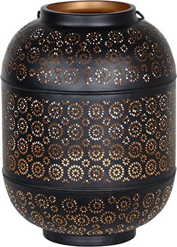 Orientalisches Windlicht Metall Kerzenhalter Teelichthalter Laterne oval