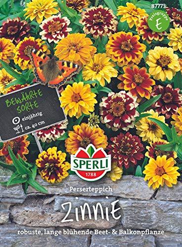 Sperli Blumensamen Zinnien Perserteppich Mischung, grün