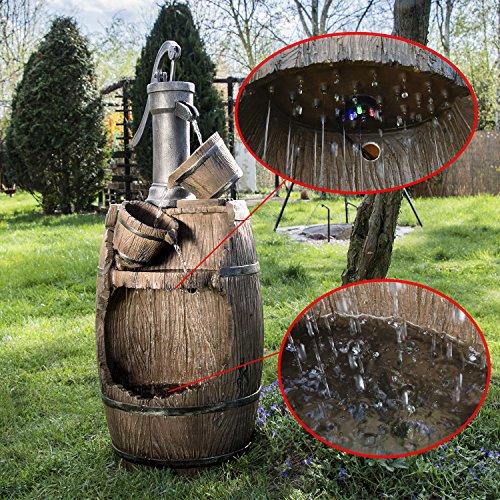 Köhko Gartenbrunnen mit Regenfalleffekt Dölitz 13014 Springbrunnen Wasserspiel