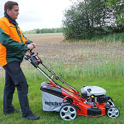 HECHT 5IN1 Benzin Rasenmäher – Leistungsstarker 4 Takt Motor mit 3,6 kW, Elektrostart, 51 cm...
