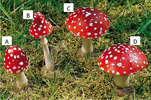 KUHEIGA Fliegenpilz rot H: 9-12cm Pilz Herbstdeko Tischdeko