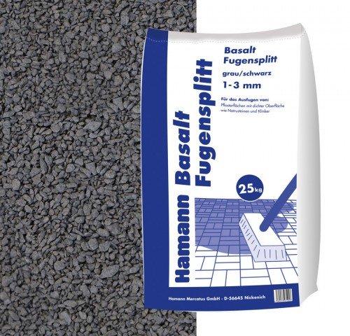 Hamann Mercatus GmbH Basalt Fugensplitt 1-3 mm 25 kg Sack - zur dekorativen, kreativen und...
