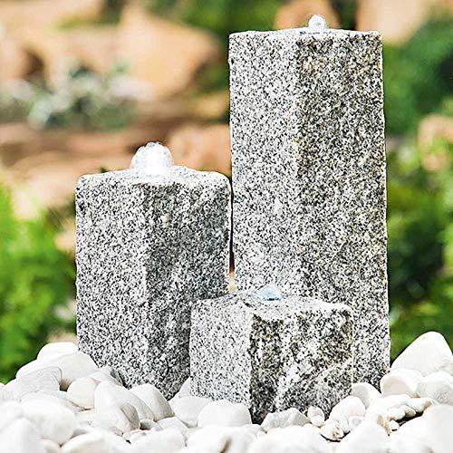 Heissner 016916-00 Stein-Brunnen-Set Neptun LED